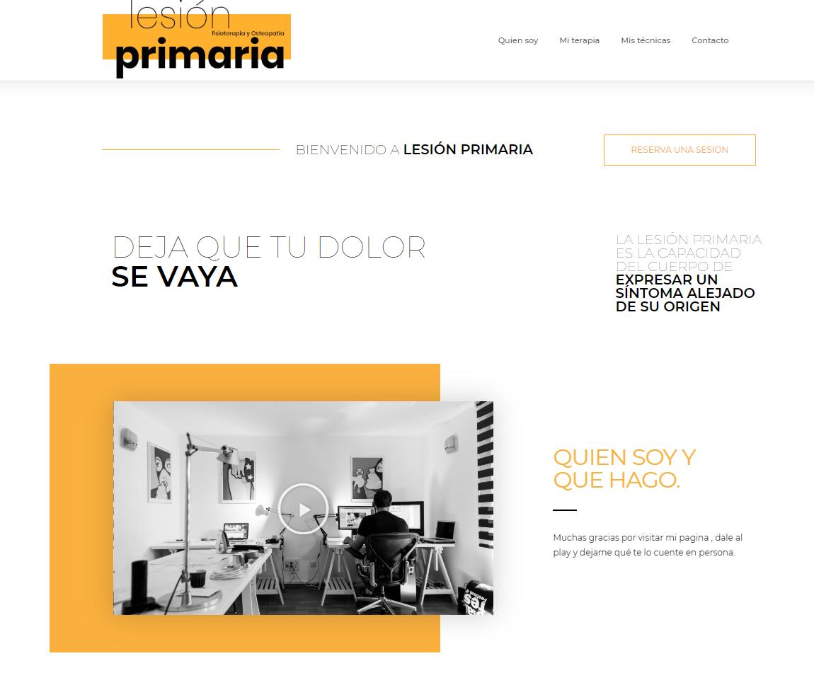 web empresa LESION PRIMARIA